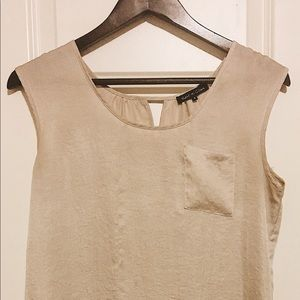 Champagne Chiffon Dress Top